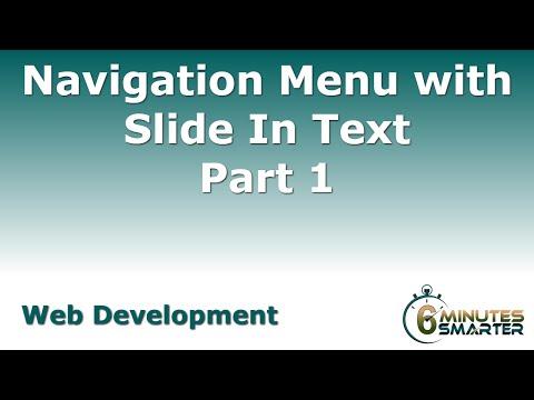 Navigasyon Menüsü Slayt Metin - Bölüm 1