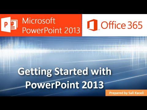 Powerpoint 2013 - Modül 1 18 İle Çalışmaya Başlama