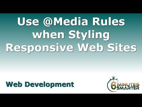 Kullanım @media Ne Zaman Kuralları Styling Yanıt Veren Web Siteleri