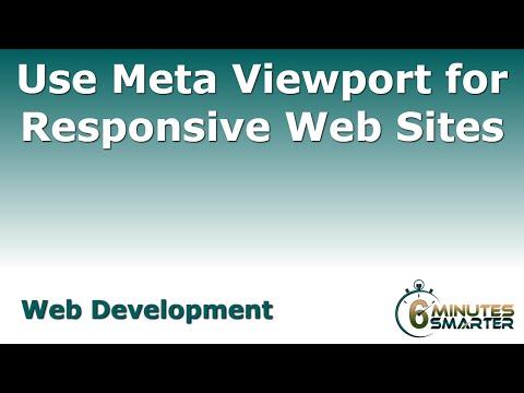 Meta Görüntüleme Çerçevesinin Yanıt Veren Web Siteleri İçin Kullanın