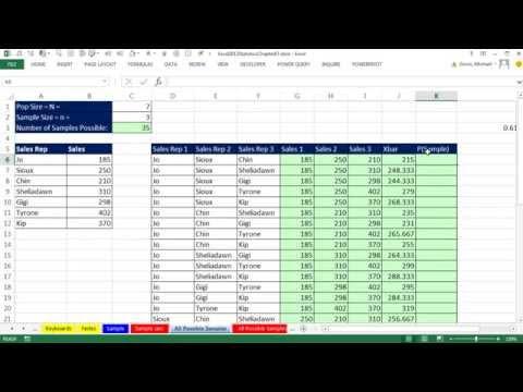 Excel 2013 İstatistiksel Analiz #43: Excel'de Basit Rastgele Örnekleme: İşlem Ve Teorisi