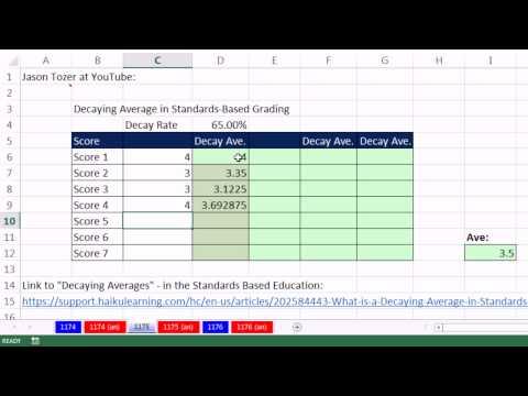 Excel Sihir Numarası 1175: Standartlara Dayalı Excel'de Sınıflandırma İçinde Çürüyen Ortalama