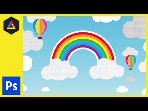 Gökkuşağı Ve Bulutlar İllüstrasyon Ep26/33 [Yeni Başlayanlar İçin Adobe Photoshop]