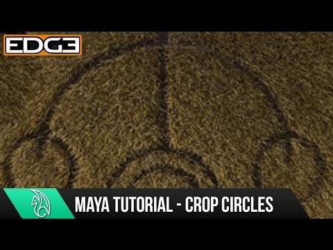Maya 2015 Eğitim - Kırpma Oluşturmak Nasıl Circles Eğrileri, Boya Etkileri Ve Kürk Hd İle