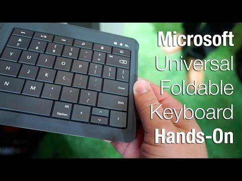 Microsoft Evrensel Katlanabilir Klavye Ellerde