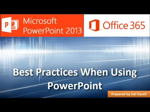 En İyi Uygulamaları Tasarlarken Ve Kullanarak Powerpoint 2013 (2 / 18)
