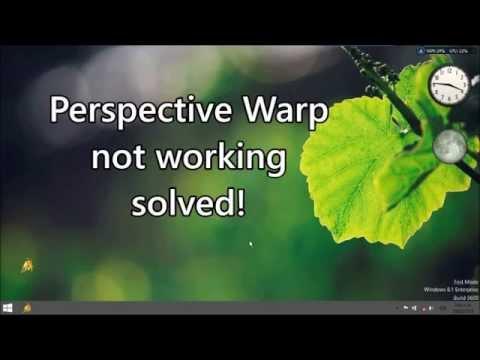 Perspektif Warp İşe Yaramıyor, Çözüldü!