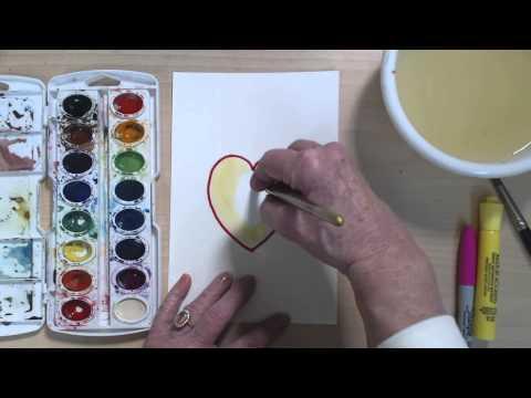 Kolay Ve Eğlenceli Çizmek Ve Bir Işık Boya Kalp Kalpli Nasıl | Cp