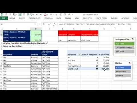 Excel Sihir Numarası 1178: Koşullu / Ve Yüzde: Özet Tablo Dilimleme, Çokeğersay Veya Vseçsaydolu?