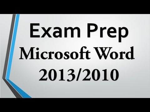 Sınav Hazırlık Word 2013/2010