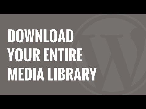 Senin Tüm Wordpress Ortam Kitaplığı Karşıdan Yükleme