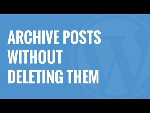Nasıl Wordpress Silmeden Mesaj Arşiv
