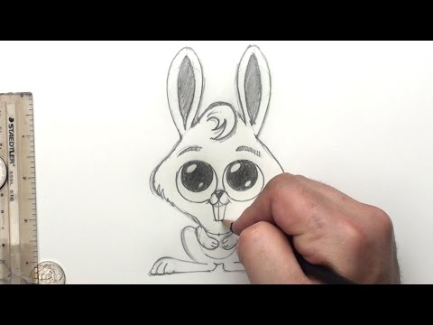 Nasıl Bir Tavşan Çizmek İçin Çocuklar İçin Tavşan - Paskalya Tavşanı - Sanat Dersleri | Kan Basıncı
