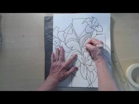 Nasıl Çizmek Ve Paskalya Zambak Ve Tuval Üzerine Çapraz İzleme | Cp