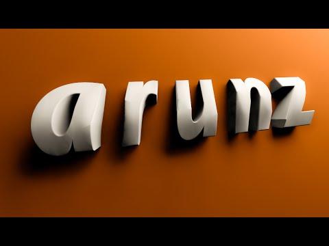 3D Metin Logo | Sinema 4D C4D | Photoshop