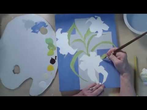 Paskalya Lily Resim Timelapse Video - Nasıl Boya Yapılır   Cp