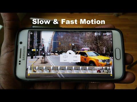 Samsung Galaxy S6 Yavaş Ve Hızlı Hareket Video Örneği