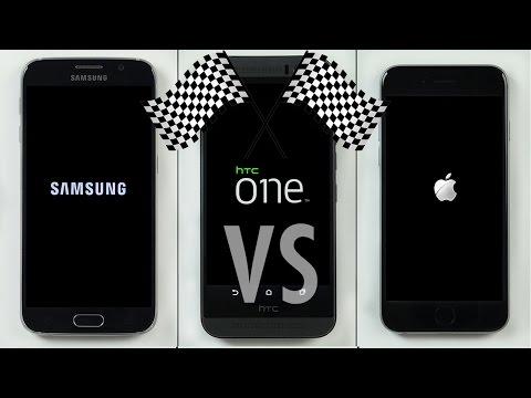 Galaxy S6 Vs Htc Bir M9 Vs İphone 6 Hız Testi