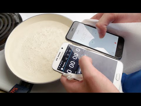 Samsung Galaxy S6 Vs İphone 6 Kaynama Sıcak Su Test