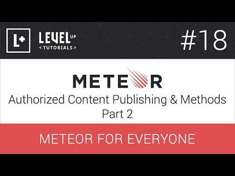 #18 İçerik Yayımlama Ve Yöntemler Bölüm 2 - Meteor Herkes İçin Yetkili