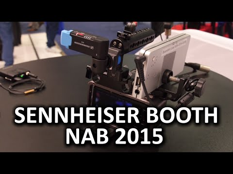 Sennheiser Booth - Avx, Lavs Apogee - Nab 2015 Tarafından Desteklenmektedir
