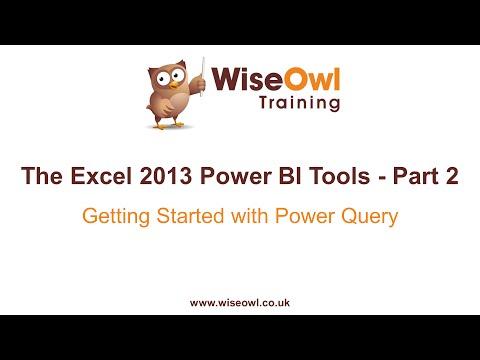 Excel 2013 Güç Bı Araçlar Bölüm 2 - Güç Sorgu İle Çalışmaya Başlama
