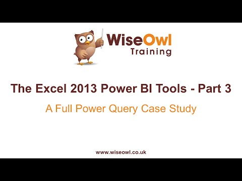 Excel 2013 Güç Bı Araçlar Bölüm 3 - Tam Güç Sorgu Örnek Çalışma