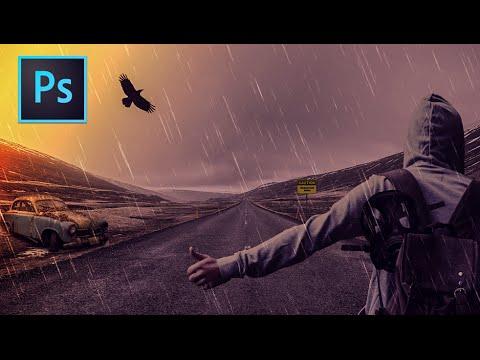 Photoshop İşleme Eğitimi: Karanlık Yağmurlu Gece