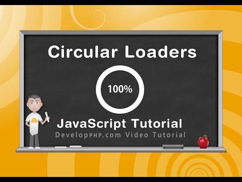 Dairesel İlerleme Yükleyici Tuval Javascript Programlama Eğitimi