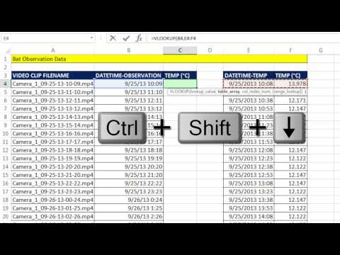 Excel Sihir Numarası 1191: Düşeyara: Arama Sıcaklık Ve Dönüş Gözlem Tablo Yarasa