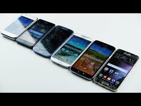 Samsung Galaxy S6 Vs S5 Vs S4 Vs S3 Vs S2 Vs S1 Test Bırak!