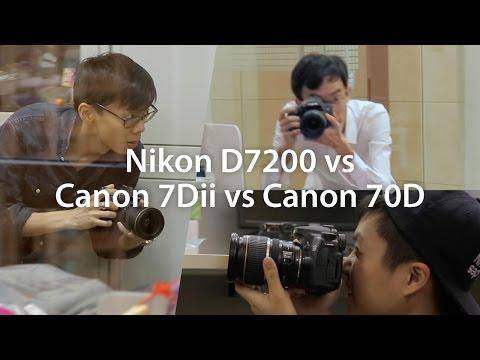 Nikon D7200 Vs Canon 7D Mark Iı Vs 70D Shootout