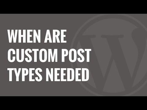 Bir Özel Mesaj Türü Veya Taksonomi Wordpress Ne Zaman İhtiyacın Var
