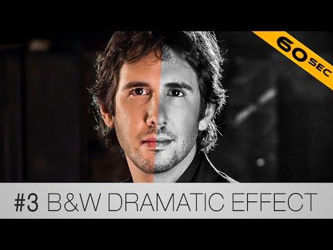 #3 Dramatik Siyah Ve Beyaz Etkisi - 60 Saniye İçinde Photoshop