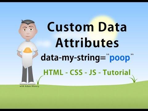 Özel Veri Html Javascript Css Eğitimi Öznitelikleri