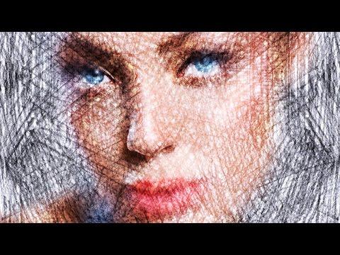 Photoshop: Renkli Kalem Ve Pastel Portreleri Fotoğraf Dönüştürmek