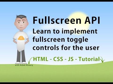 Tam Ekran Apı Javascript Kod Örnekleri Ve Özellikleri
