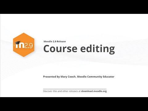 Moodle 2.9 Yayın Özelliği: Kurs Düzenleme