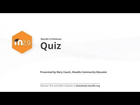Moodle 2,9 Yayın Vurgulamaktadır: Quiz