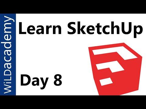 Sketchup Eğimli Yüzeyler İle Çalışma Eğitimi - 8-
