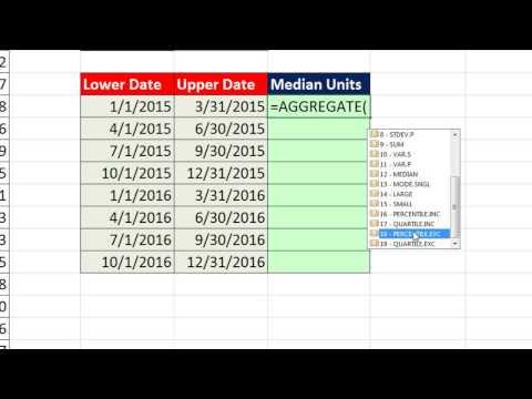 Excel Sihir Numarası 1198: Medyan Toplama İşlevini Kullanarak Her Üç Aylık Dönem İçin