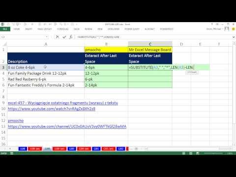 Excel Sihir Numarası 1199: Her Şey Sonra Son Boşluk Ayıklamak İçin Formül: İki Formül Çözüm
