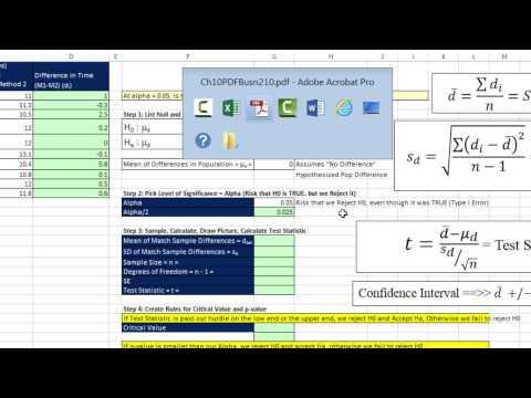 Excel 2013 İstatistiksel Analiz #68: Bahisler/eşleştirilmiş Örnekleri Nüfus Farklılıkları Sigma Değil Bilinen