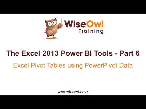 Excel 2013 Güç Bı Araçlar Bölüm 6 - Excel Pivot Tabloları Kullanarak Powerpivot Verilerini