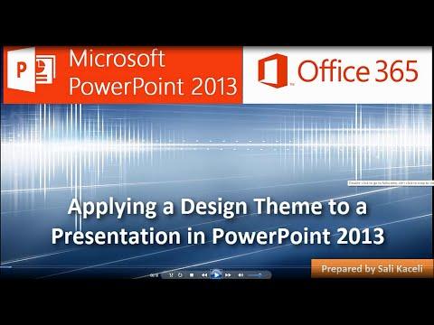 Sunuyu Powerpoint 2013 (5 / 18) İçin Tasarım Tema Uygulama