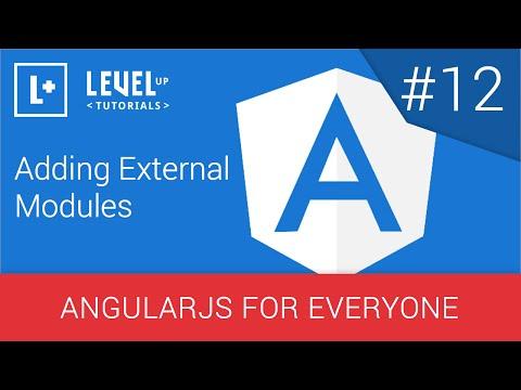 #12 Harici Modülleri - Angularjs Herkes İçin Ekleme