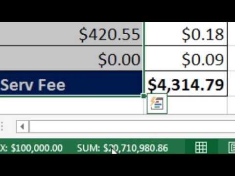 Bay Excel Ve Excelisfun Hile 173: Toplam Hizmet Ücreti Üzerinden Hayat, Kredi: Sigara Dizi Formülü En İyisi!