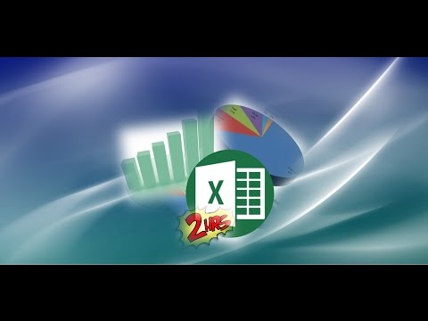 Excel 2010 Tam Öğretici Temel Gelişmiş Bölüm 2 / 2 - 1 Saat İçinde Bir Pro İçin
