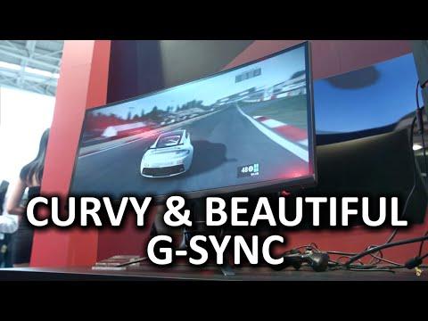 3440 X 1440 G-Sync Ve Düz Freesync - Asus Monitörler Computex 2015, Kavisli