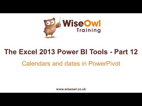Excel 2013 Güç Bı Araçlar Bölüm 12 - Takvimler Ve Powerpivot İçindeki Tarihler